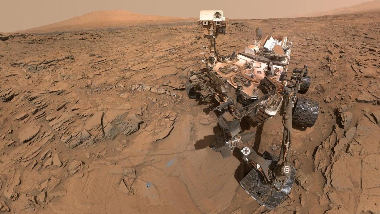 Mönkijä Curiosity on pienen tauon jälkeen taas porannut näytteitä Marsin pinnasta. Kuva: Nasa