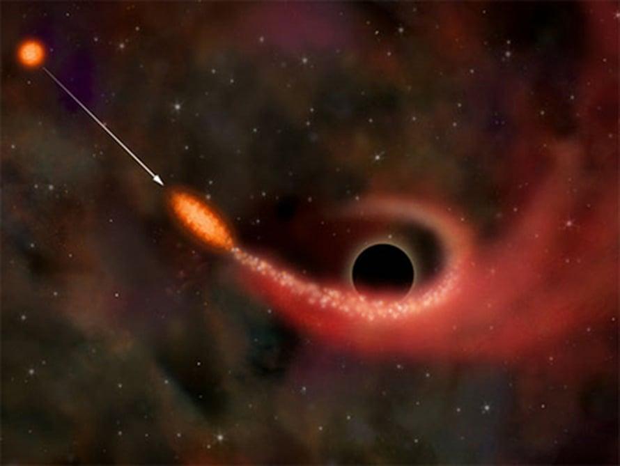 Musta aukko syö tähden (NASA/CXC/M.Weiss).