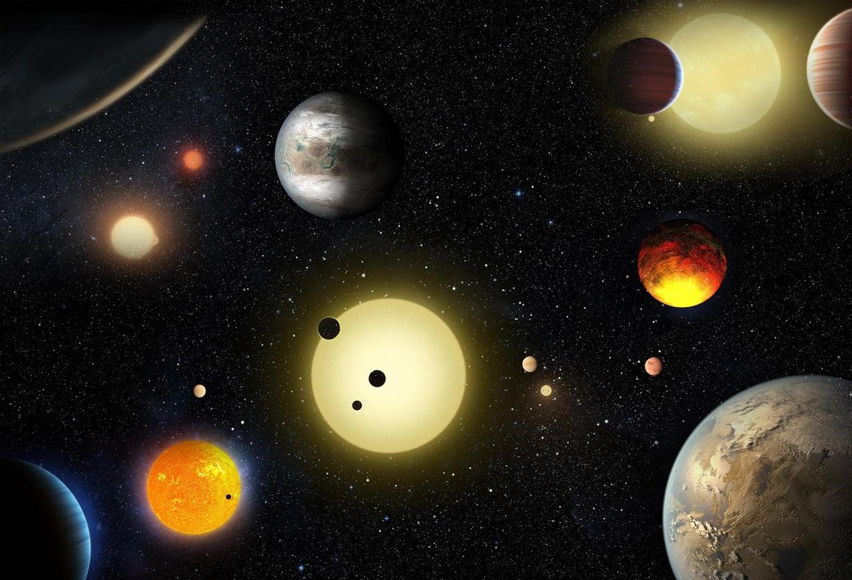 3 200 tunnetusta eksoplaneetasta 2 325 on Keplerin löytämiä. Kuva: NASA/W. Stenzel