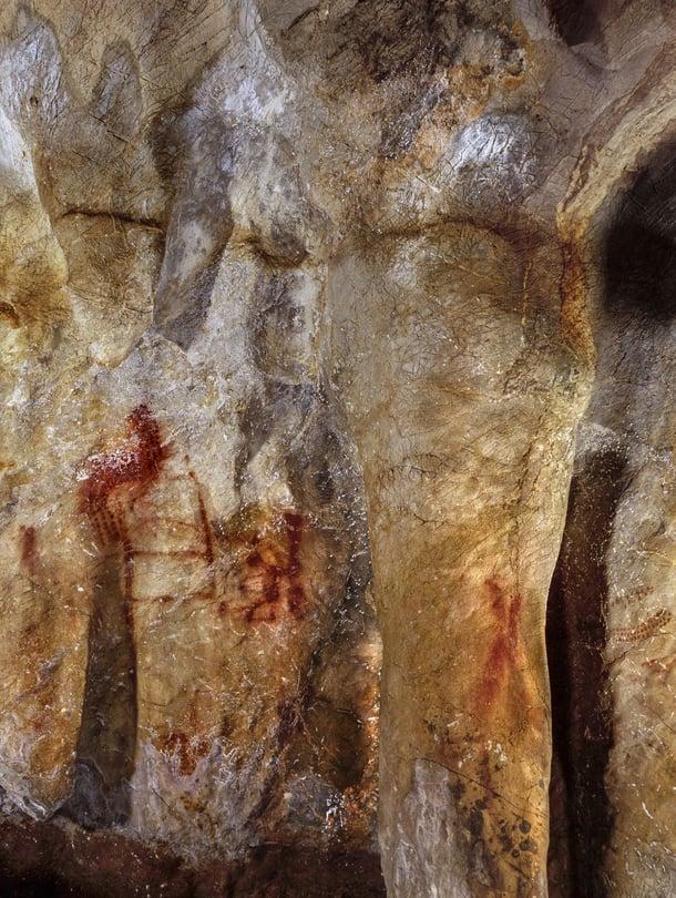 """Pasiegan luolamaalaukset ovat verrattain yksinkertaisia, mutta osoittavat, että neandertalinihmiset kykenivät symboliseen ajatteluun. Kuva: <span class=""""photographer"""">Pedro Saura </span>"""