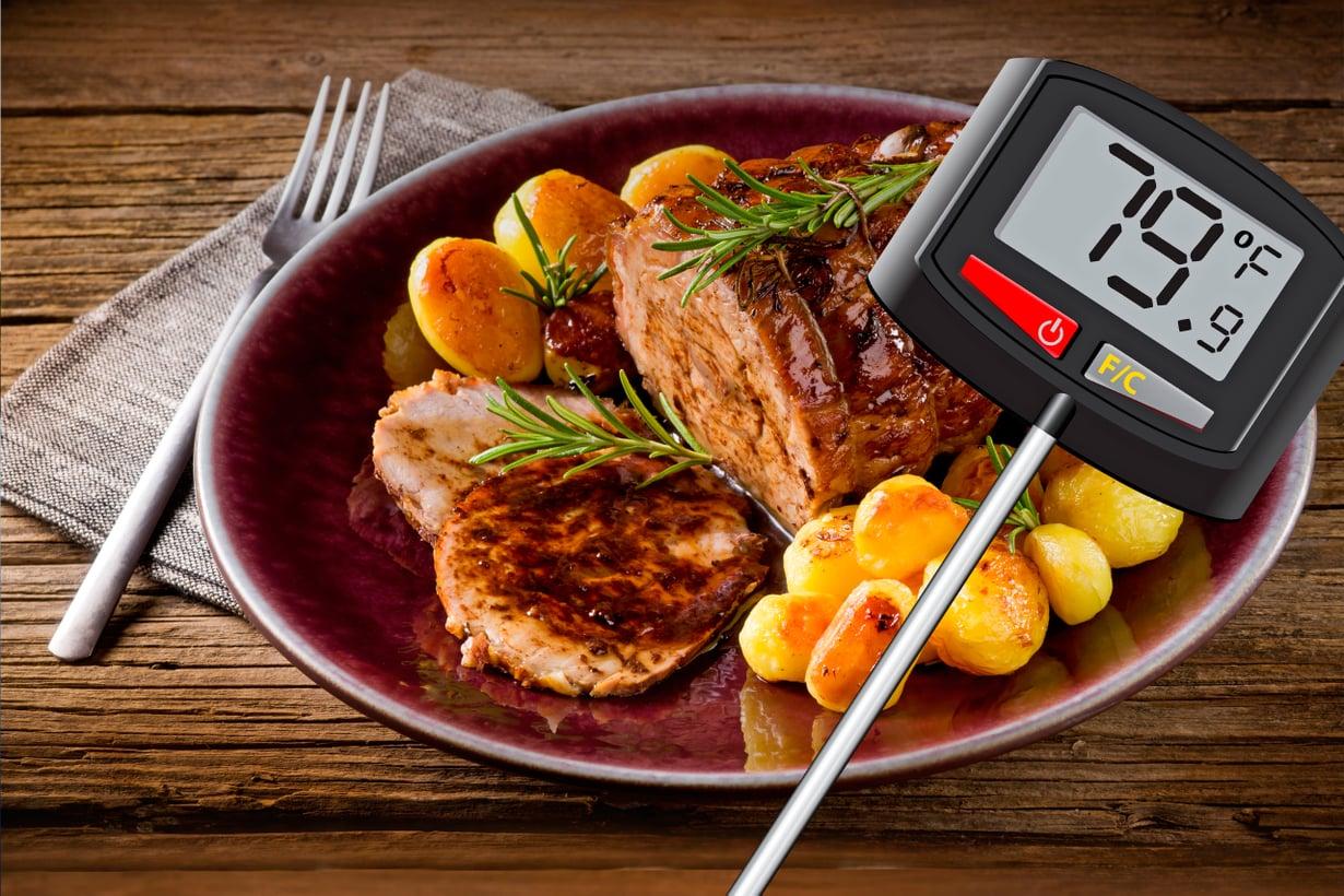 Termoparina tunnettu mittari laskee lämpötilan jännite-erosta. Kuva: Shutterstock
