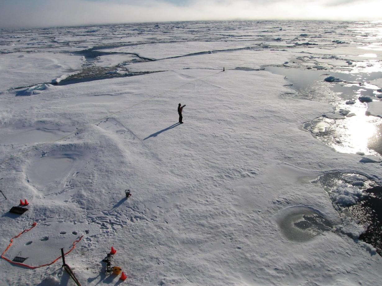 Tältä näytti Pohjoisnavan läheisyydessä vuonna 2011. Stuart McDill / Reuters