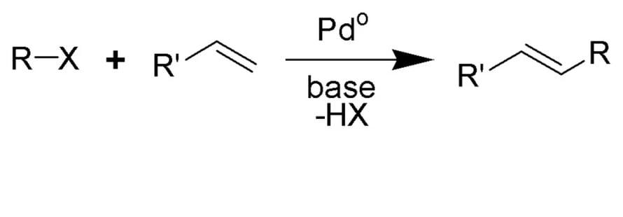 Palladiumin katalysoima Heckin reaktio on yksi osa vuonna 2010 kemian Nobelilla palkittua kehitystyötä.