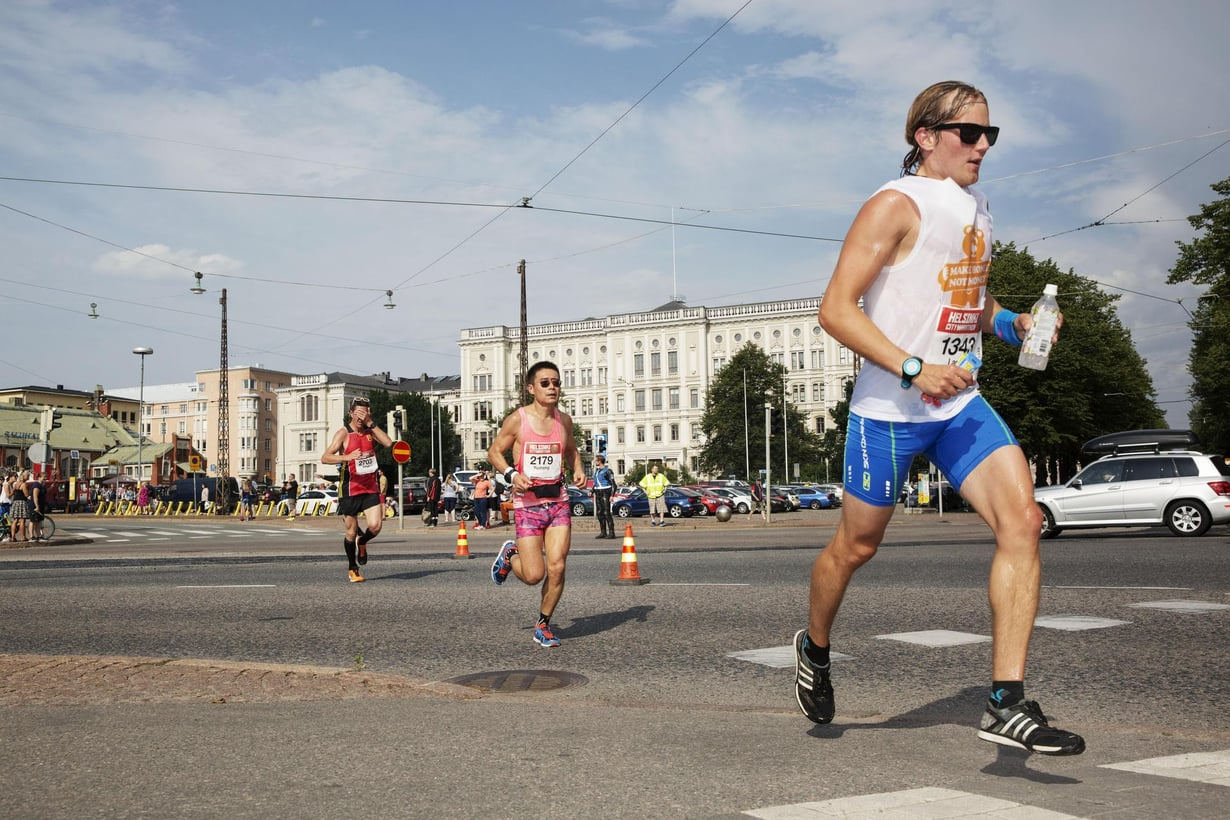 Maratoonarit jaksavat evoluution antamilla taipumuksilla. Kuva: Jonne Heinonen