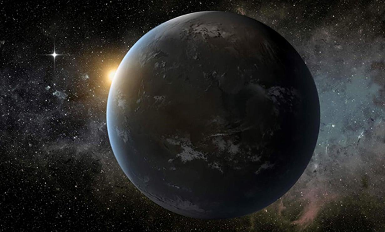 Taiteiljan näkemys eksoplaneetasta. Kuva: Nasa