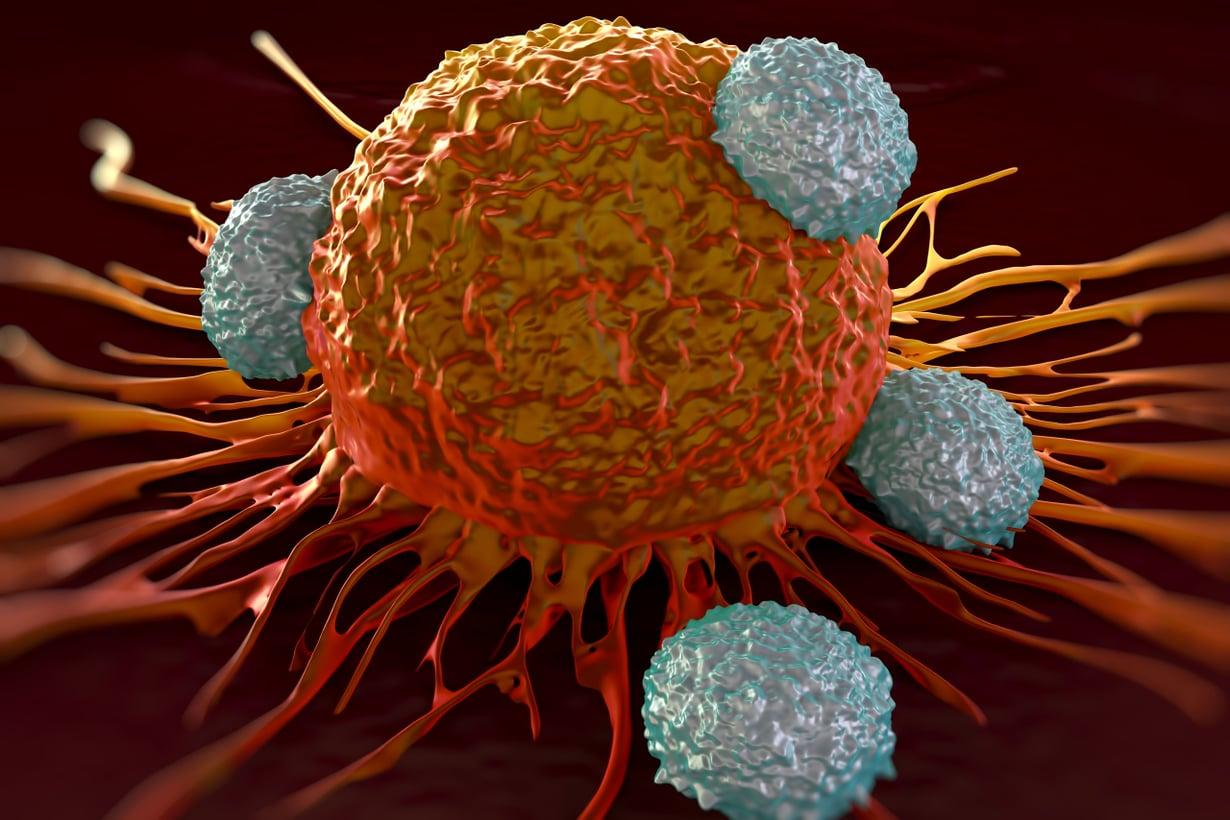 T-solut iskevät syöpään. Kuva: Getty Images