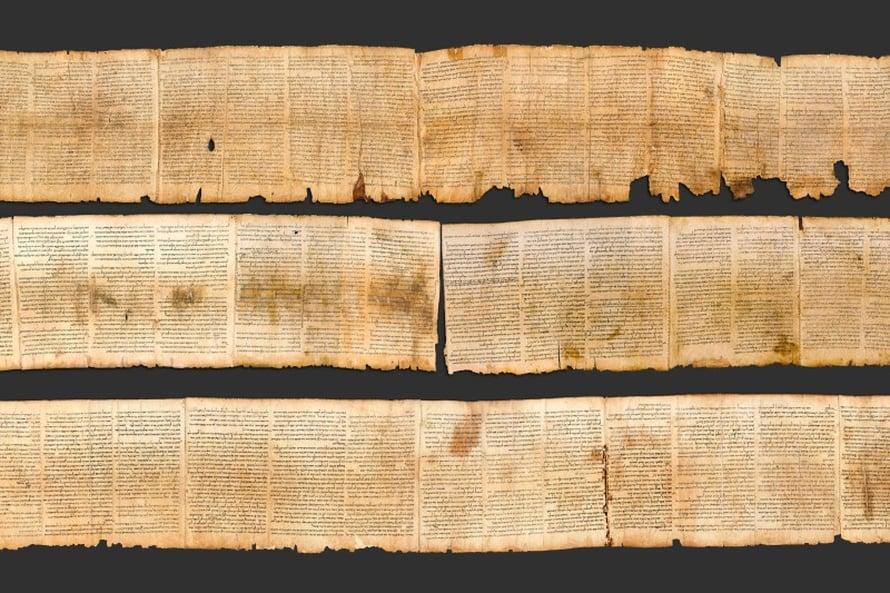 Raamatun käsikirjoitukset todistavat, että tekstejä muokattiin vuosisatoja vastaamaan kunkin aikakauden käsityksiä. Kuvat Israel Museum.