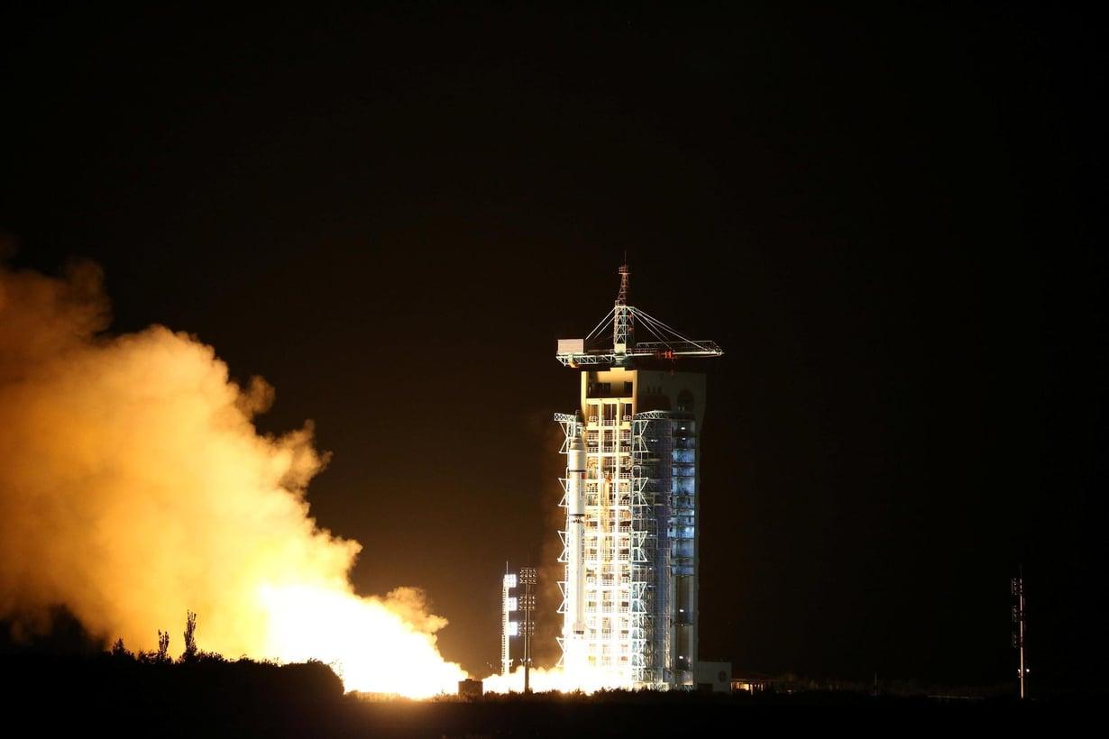 Kiina lähetti avaruuteen kvanttisatelliitin Gobin autiomaasta elokuun lopulla. Se tekee kolmen kuukauden ajan kokeita, jotka voivat mullistaa tiedonvälityksen salauksen. Kuv: CHINA DAILY