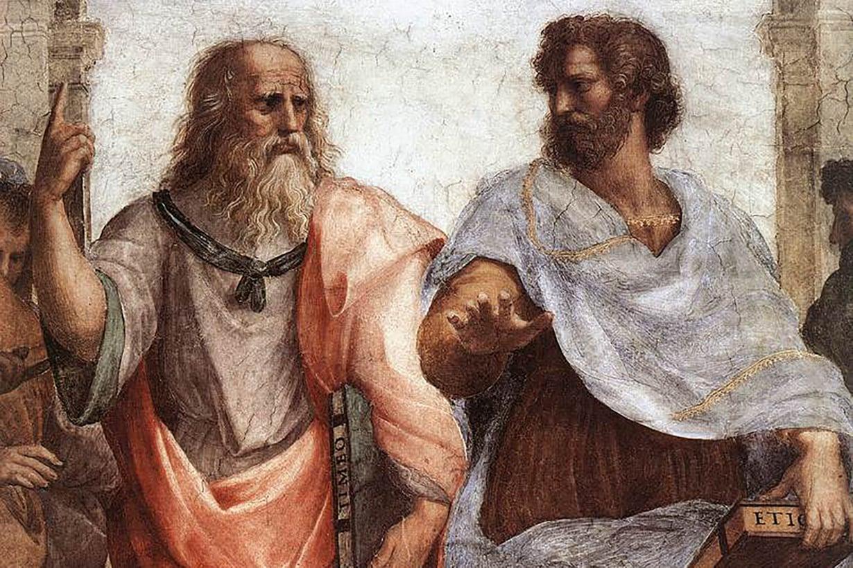 Antiikin suuret nimet Platon ja Aristoteles opettivat, että nainen on vajavainen mies. Kuva: Ateenan koulu/Alamy/MVPhotos