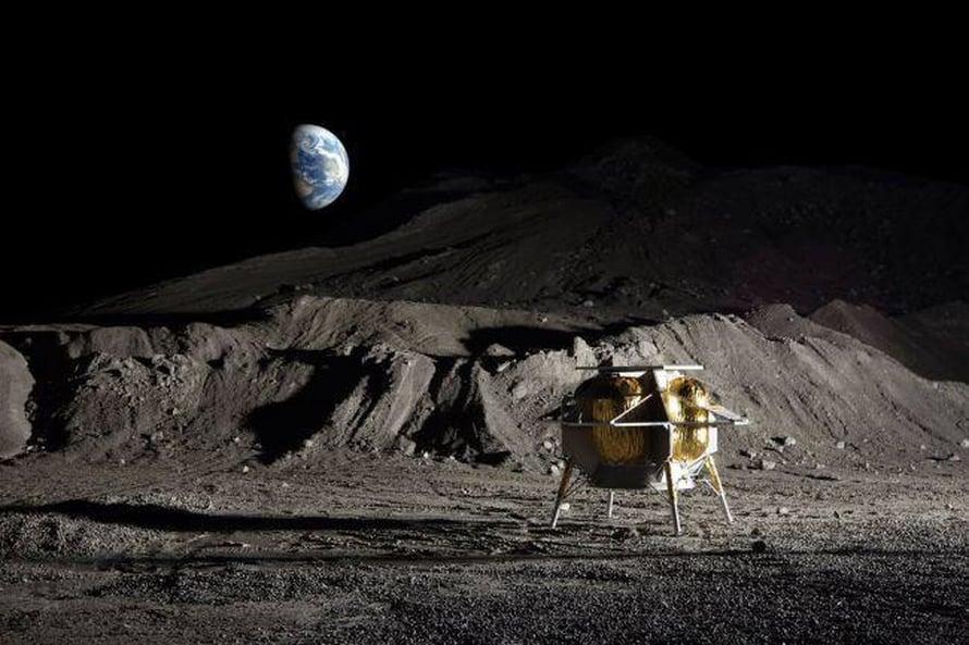 Astrobotic-yhtiön laskeutuja Peregrine on 1,9 metriä korkea. Se voi viedä Kuuhun rahtia kerralla 265 kiloa.