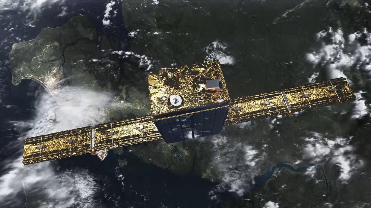 Iceye-X1-tutkasateelliitti pääsi matkaan Intiasta. Havainnekuvassa se näyttää tältä. Kuva: Iceye