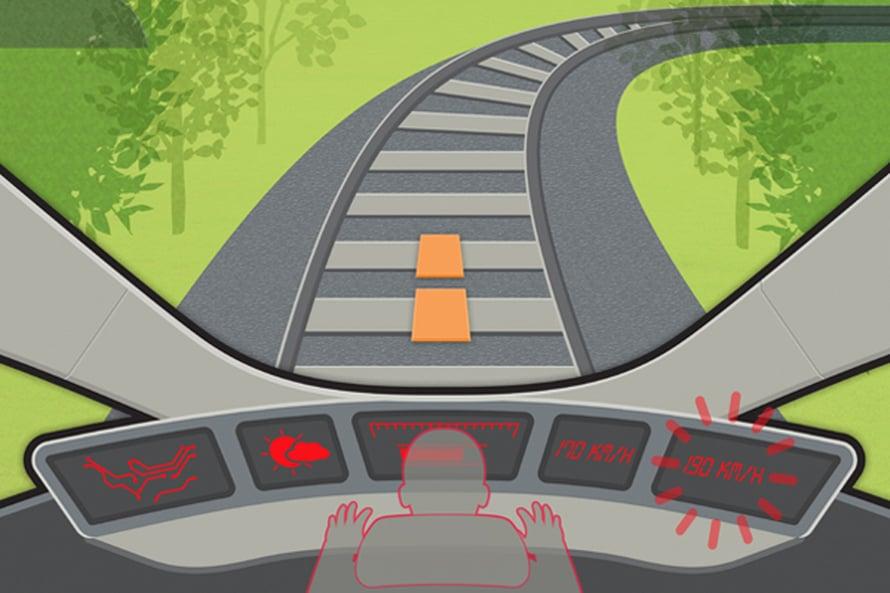 Suomessa junien turvallisuus perustuu ihmisen ja tekniikan yhteistyöhön. Kuvitus: Jukka Fordell