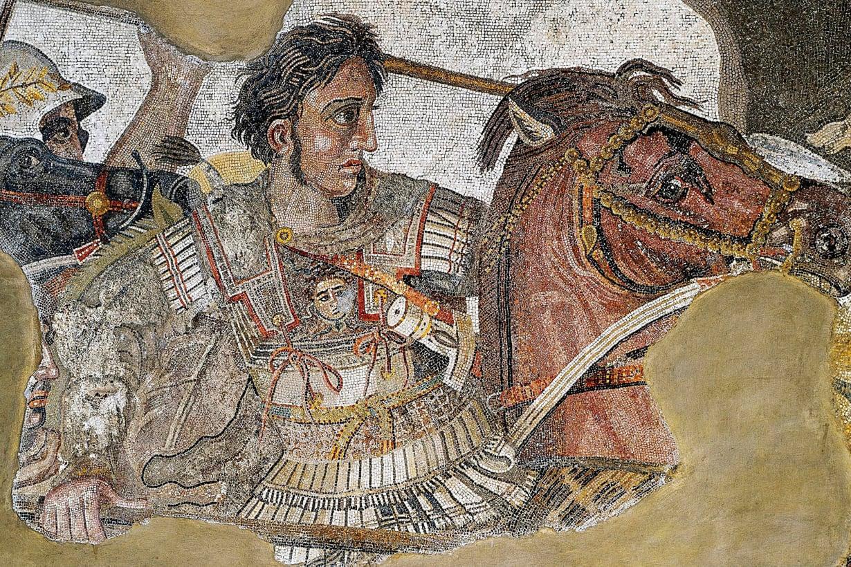 Aleksanteri Suuri Bukefalos-hevosineen. Kuva: Wikimedia Commons