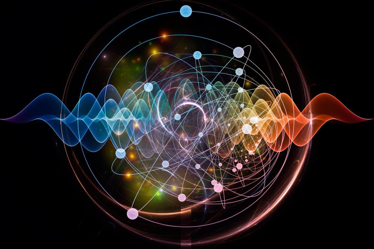 Kvanttimaailmassa kaikki aine häilyy. Atomi on aalto, jonka ydin ja elektronit sijaitsevat siellä, täällä tai tuolla tilastollisen todennäköisyyden mukaan. Kuva: iStock