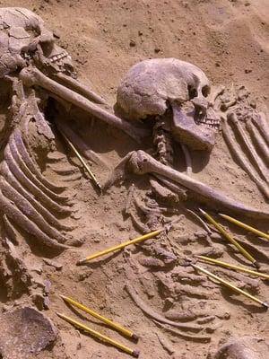 """Jebel Sahabasta löytyneet vainajat paljastavat paljon elämästä tuhansia vuosia sitten. Kuva: <span class=""""photographer"""">British Museum / Reuters</span>"""