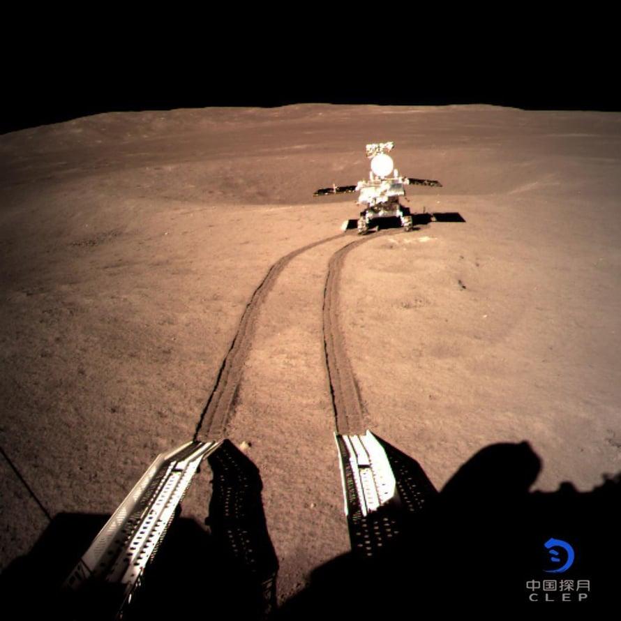 """Yutu 2 lähti ajelemaan. Kuva: <span class=""""photographer"""">Kiinan avaruushallinto</span>"""
