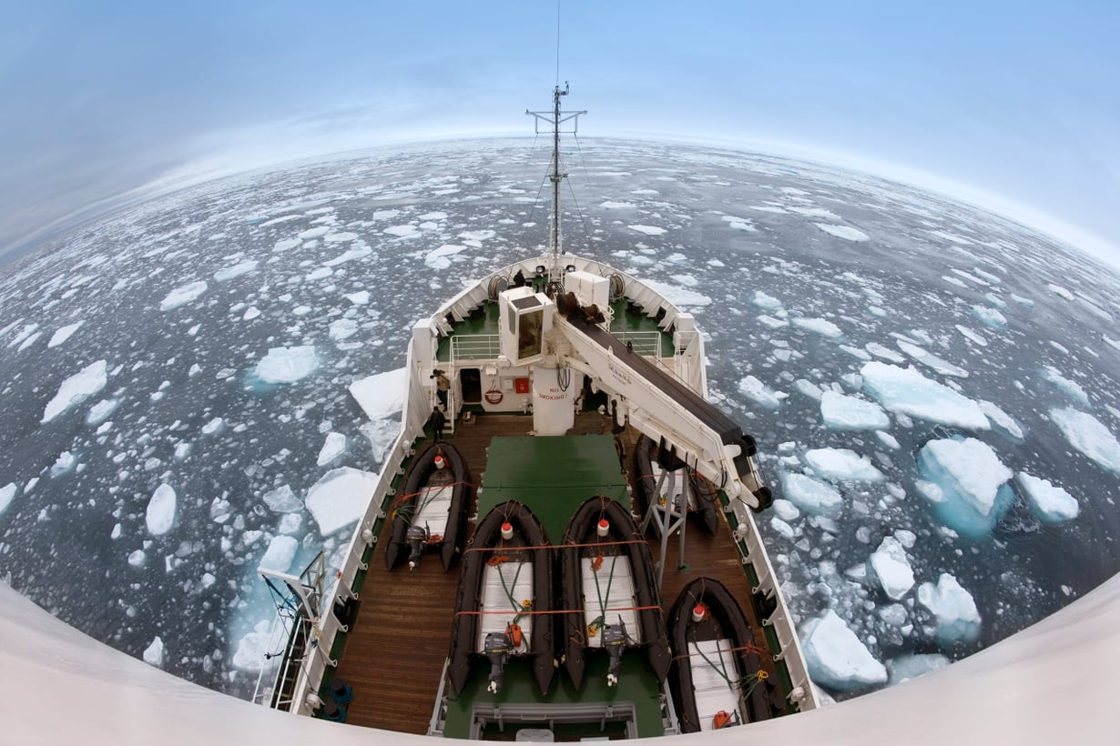 Ilmastonmuutos sulattaa uusia kauppareittejä pohjoiseen. Kuva:Getty Images
