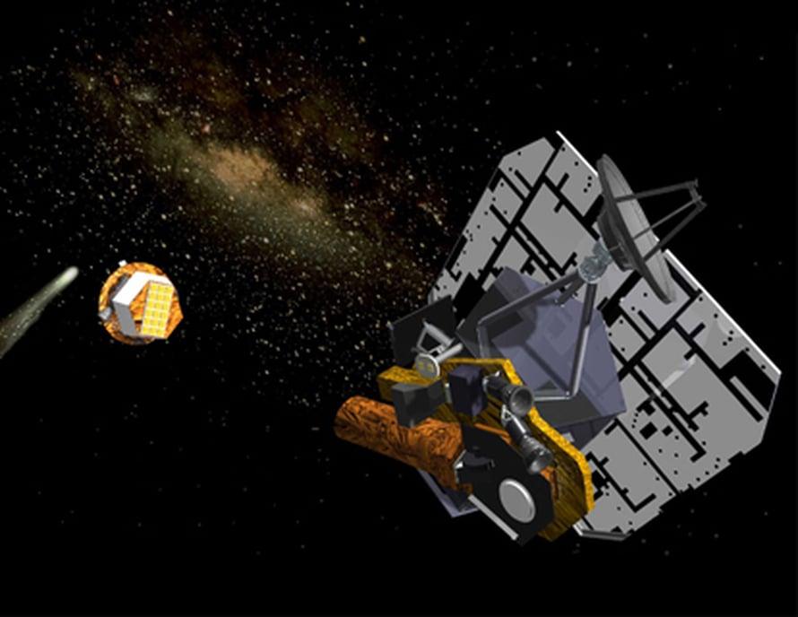 """Deep Impactin törmääjä lähestyy Tempel 1:stä 2005. Kuva: <span class=""""photographer"""">Nasa/JPL</span>"""
