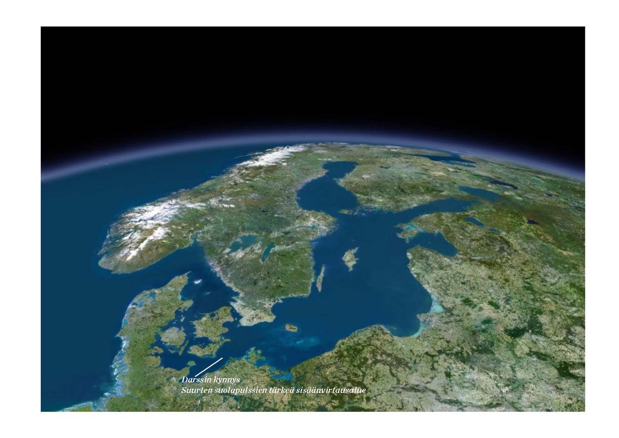 Itämeri on nuori ja herkkä meri, jonka kohtalo koskettaa suurta joukkoa. Ympäristössä asuu 85 miljoonaa ihmistä. Kuva: Planet Observer / UIG / Getty Images