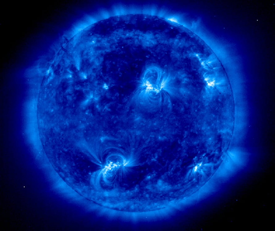 "Aurinko. Kuva: <span class=""photographer"">Soho/Esa/Nasa</span>"