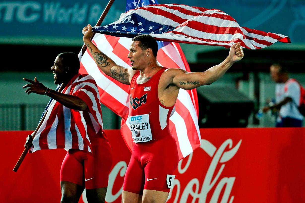 Ryan Bailey olisi olympiavoittaja, ellei viestikollega olisi kärynnyt dopingista Lontoon kisoissa 2012. Kuva Getty Images