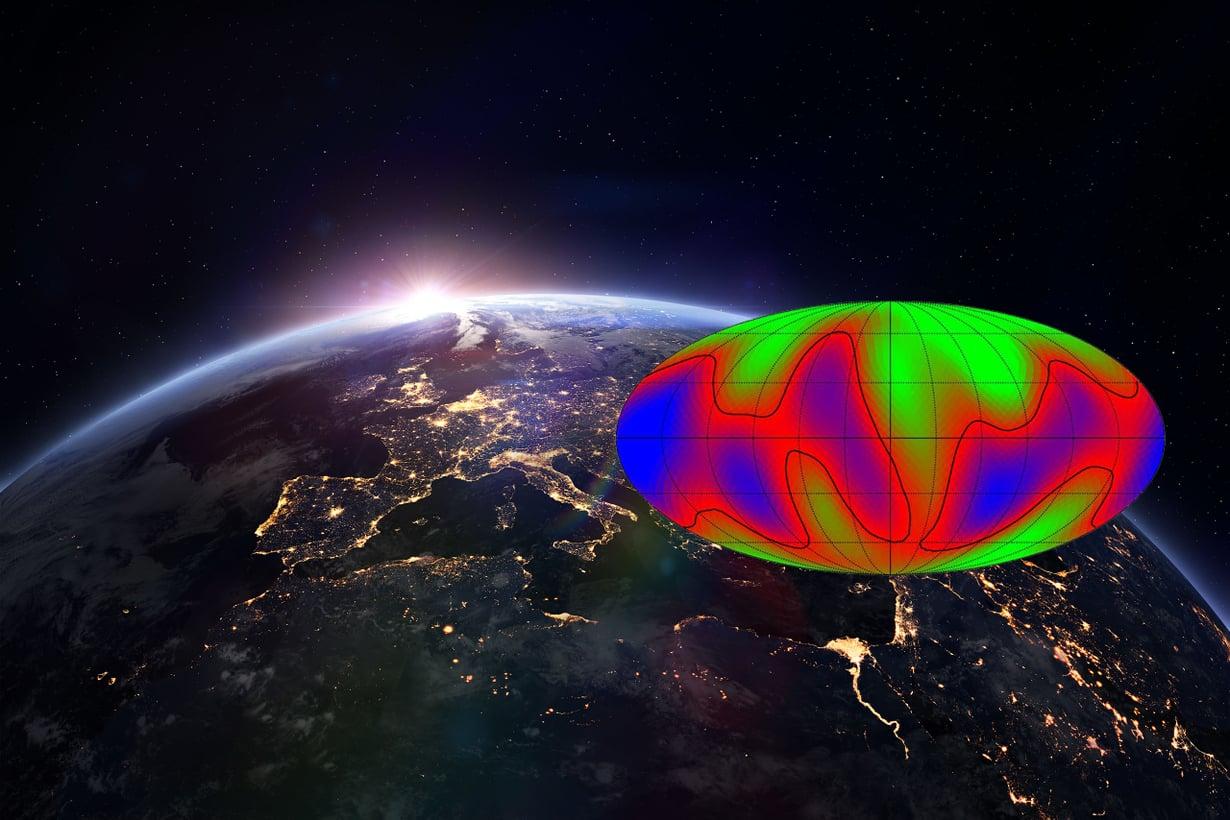 Tällaista ehkä näkisi alienin kaukoputki. Kuva: Caltech ja Getty Images