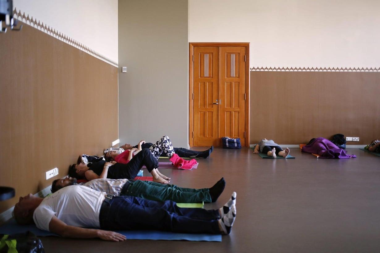 Mindfulness on suosittua meditointia. Kuva: Anni Koponen