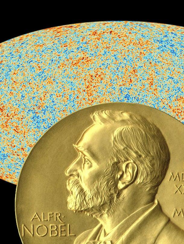 """Taustasäteily kantaa tietoa universumin alusta. Kuva: <span class=""""photographer"""">Nasa ja Nobelprize.org</span>"""