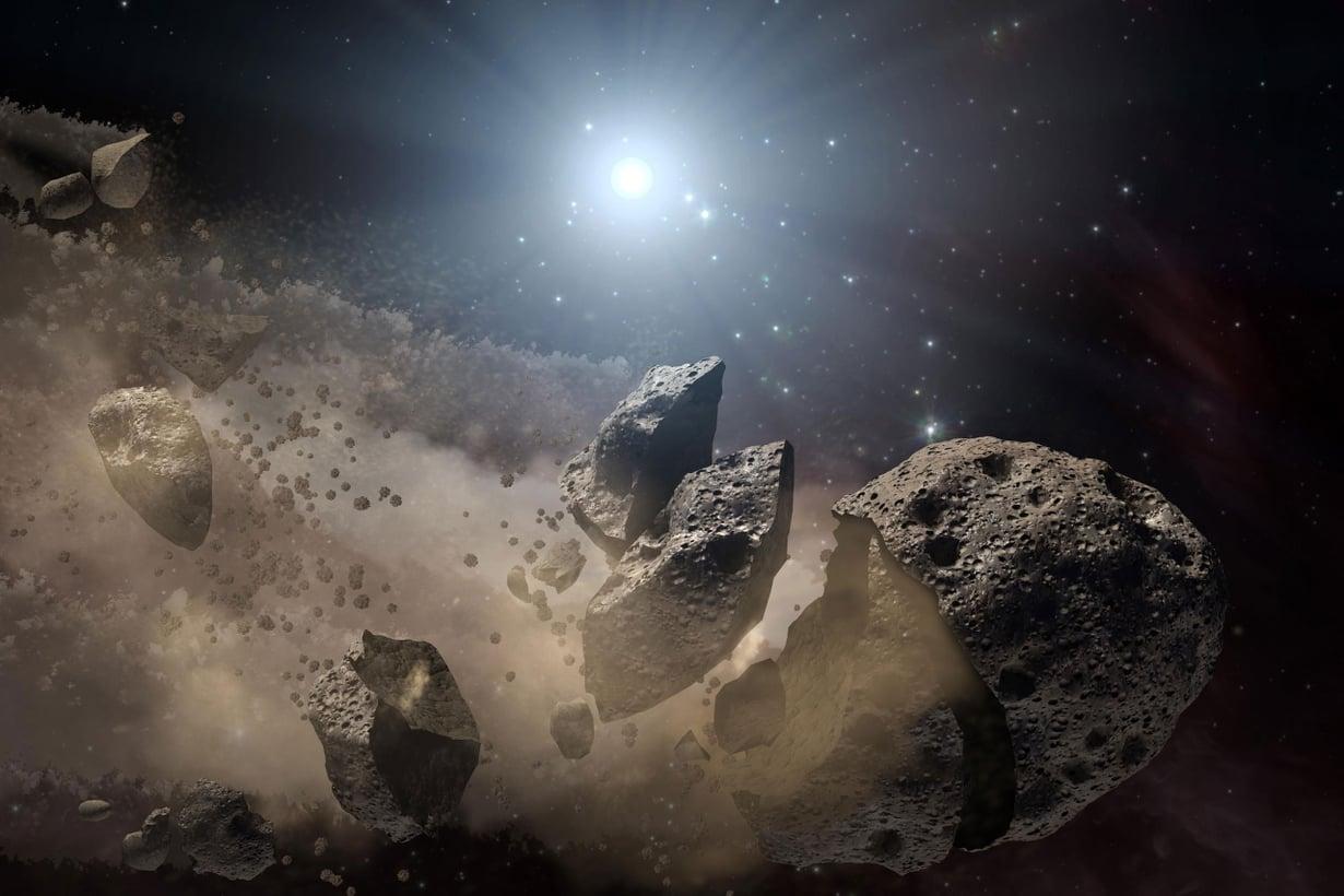 Avaruuden kivien arvellaan tuoneen elämän nestettä, vettä. Olisivatko ne voineet kantaa eliöitäkin? Kuva: Nasa
