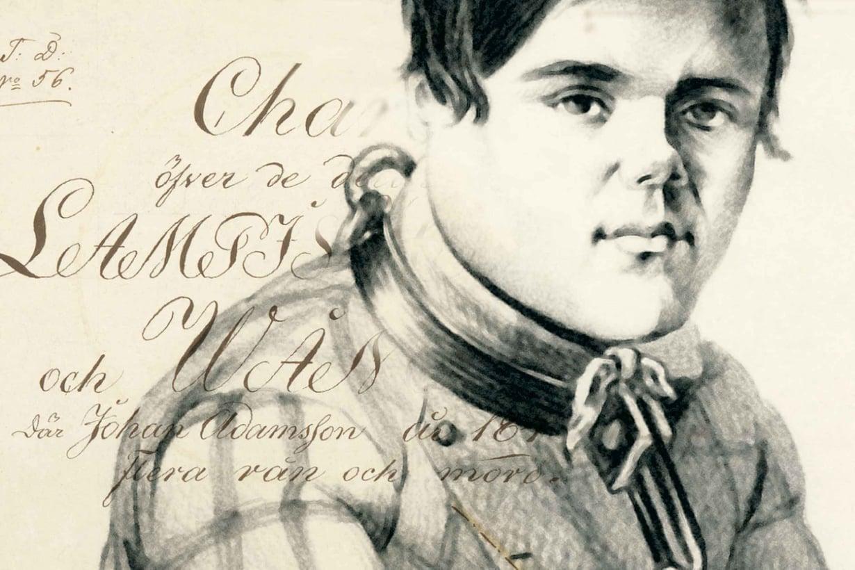 Juhani Adaminpoika surmasi 12 ihmistä vuonna 1849. Kuva: Kansallisarkisto