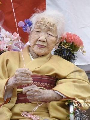 Maailman vanhin elävä ihminen on tälä erää japanilainen Kane Tanaka, joka täytti 117 vuotta 2. tammikuuta 2020. KUVA: Kyodo