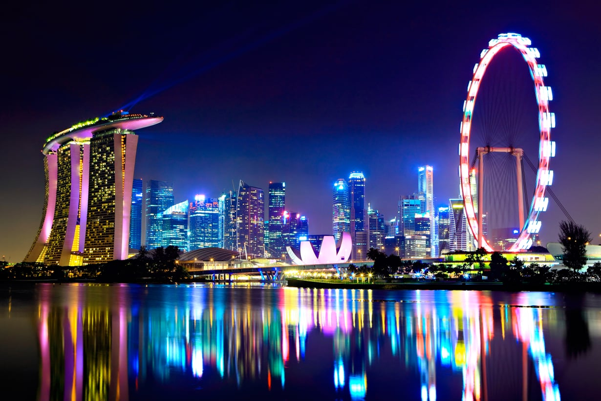 Singaporessa on väkeä vähän enemmän kuin meillä: 5,53 miljoonaa. Kuva: Shutterstock