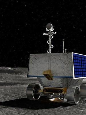 """Viper-mönkijän päätehtävä on etsiä vesijäätä Kuun etelänavan alueelta. Kuva: <span class=""""photographer"""">Nasa</span>"""