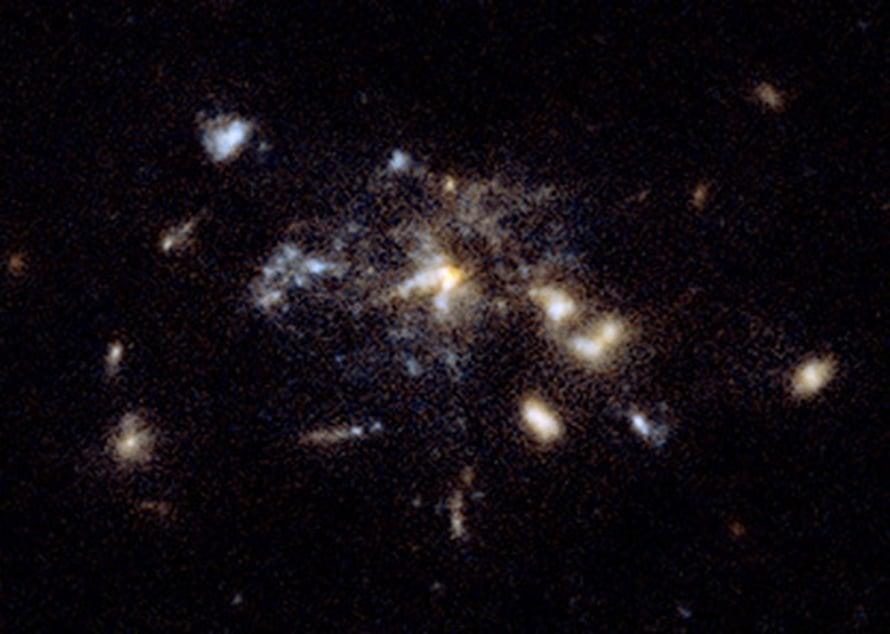 """Kuva: <span class=""""photographer"""">NASA, ESA, G. Miley and R. Overzier, ACS Science</span>"""