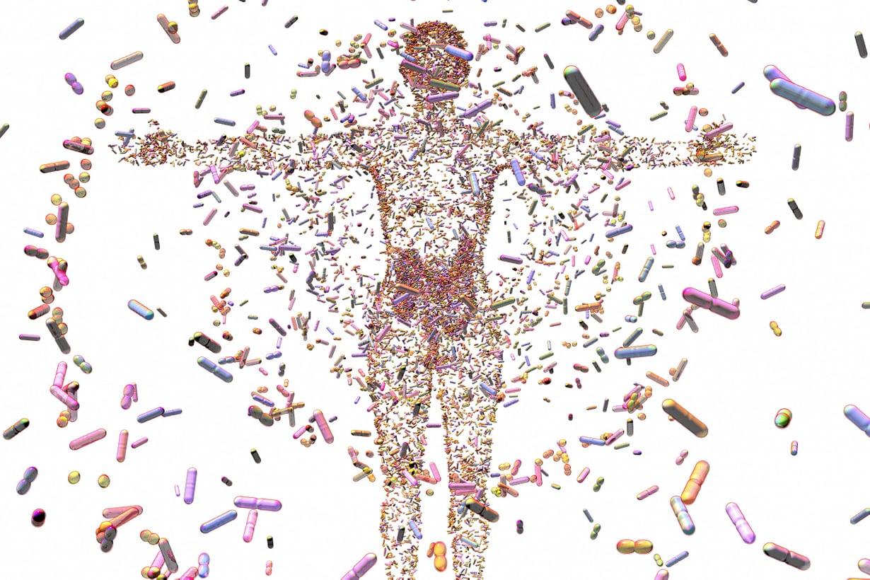Kehomme tarjoaa kodin 39 triljoonalle mikrobille. Lajeja on päästy tunnistamaan uusilla dna-tekniikoilla. Kuva: SPL/MVPhotos