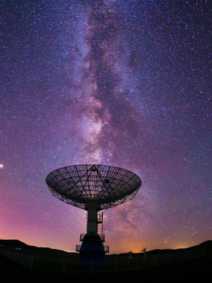 """Avaruudesta 1977 tullut radiosignaali askarruttaa yhä tutkijoita. Kuva: <span class=""""photographer"""">Shutterstock</span>"""