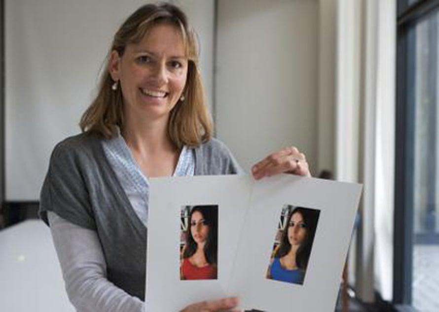 """Psykologi Daniel Niesta ja yksi tutkimuksessa käytetyistä kuvista. Kuva: <span class=""""photographer"""">University of Rochester.</span>"""