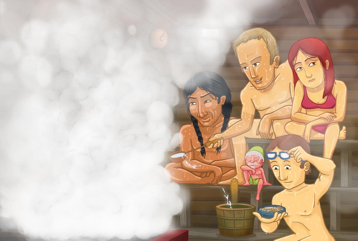 Saunalla on monta keksijää, mutta saunojina ja saunan tutkijoina me suomalaiset olemme maailman kärkeä. Kuva: Vesa Valkonen