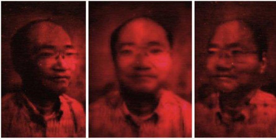 Kaksiulotteiset kuvat nivotaan kahden sekunnin välein hologrammiksi, mikä tuo uuden ulottuvuuden esimerkiksi videoneuvotteluihin.