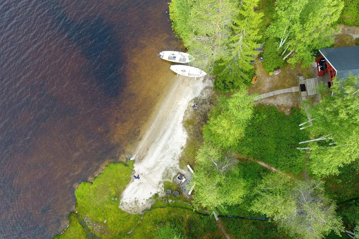 Monien järviemme vesi on luonnostaan ruskeanpuhuvaa, mutta viime vuosina väri on syventynyt ja yleistynyt. Kuva: Vesa Moilanen/Sanoma-arkisto