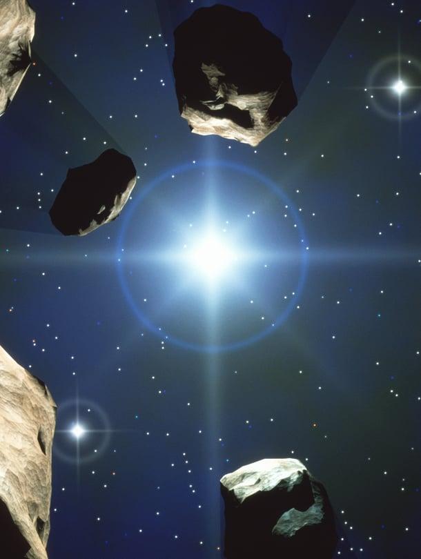 """Maailmanlopun kiviä osuu palloomme kymmenien miljoonien vuosien välein, paikallista tuhoa aiheuttavia kerran vuosikymmenessä. Kuva: <span class=""""photographer"""">SPL/MVPhotos</span>"""