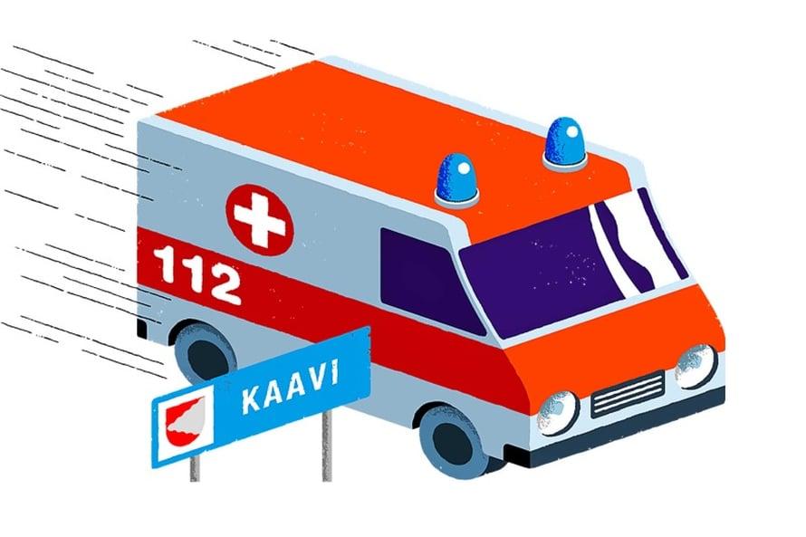 Sydäninfarktin riski on Savossa selvästi suurempi kuin Ahvenanmaalla. Kuvitus Mikko Väyrynen.