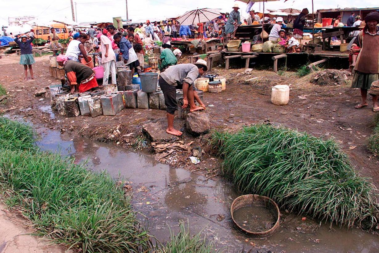 Taudit viihtyvät köyhyydessä. Madagaskarissa ruttoonkin kuolee ihmisiä yhä joka vuosi. Kuva: Getty Images