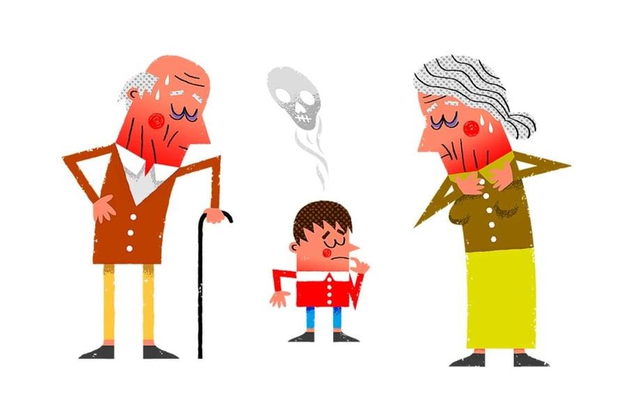 Mummun ja vaarin synnyinpaikka näkyy lastenlasten kolesteroliarvoissa.