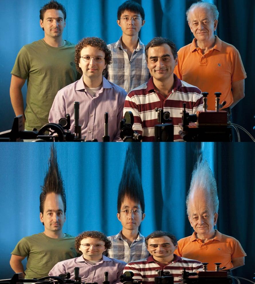 Tältä tutkijat näyttäisivät peilissä, joka on kehitetty heidän keksinnöstään.