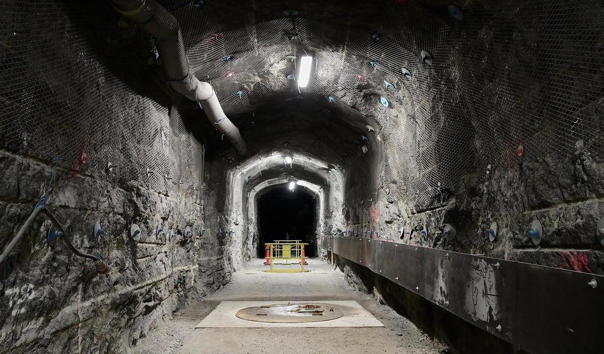 Eurajoen Olkiluotoon on kaivettu luola ydinjätekapseleiden sijoittamista varten. Kuva: Jukka Gröndahl