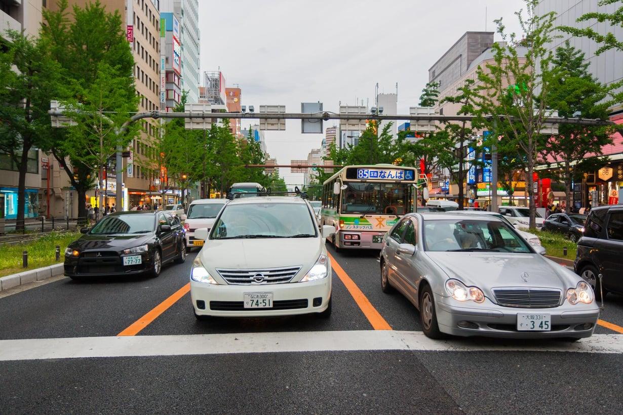 Japanissa autokanta on paljon nuorempaa kuin Suomessa. Kuva: Shutterstock