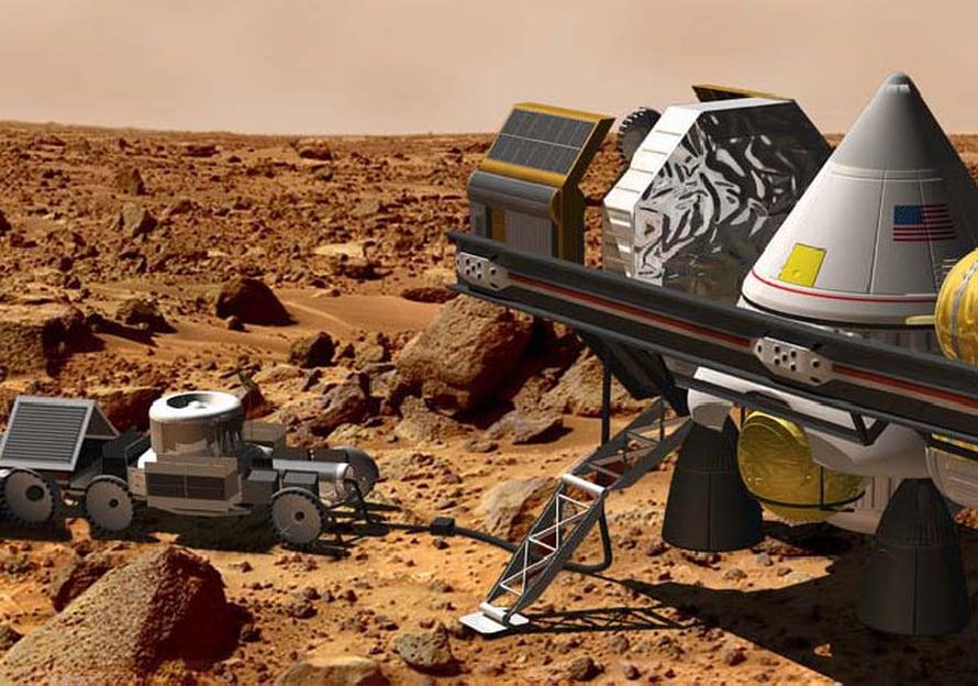 """Tältä voi näyttää Marsin miehitys. Kuva: <span class=""""photographer"""">Nasa</span>"""