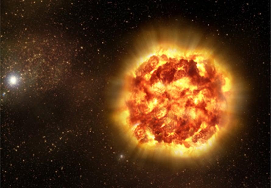 """Kokkareinen supernova. Kuva: <span class=""""photographer"""">ESO</span>"""