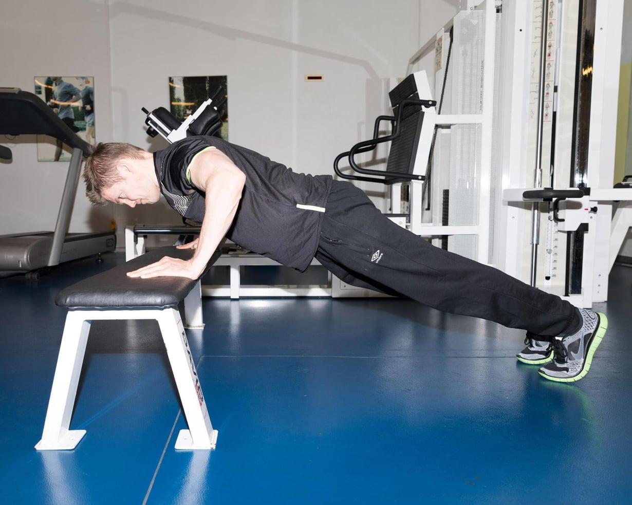 Treeni tallentaa lihaksiin tulevan kasvun varantoja. Kuva: Vilma Rimpelä